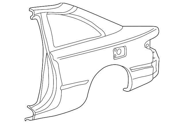 1999 2003 Toyota Solara Quarter Panel 61611 06060