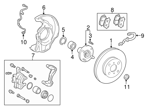 BRAKES/BRAKE COMPONENTS for 2006 Toyota Corolla #1
