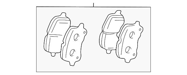 genuine toyota brake pads 04465