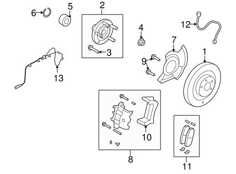 brake components for 2010 lincoln mkx. Black Bedroom Furniture Sets. Home Design Ideas