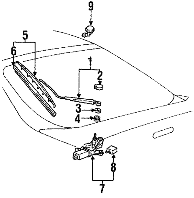 Toyota 85241-60011 Wiper Arm Assembly