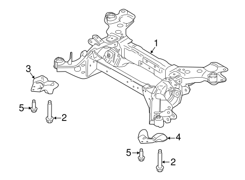 Rear Suspension/Suspension Mounting for 2017 Ford Edge #2