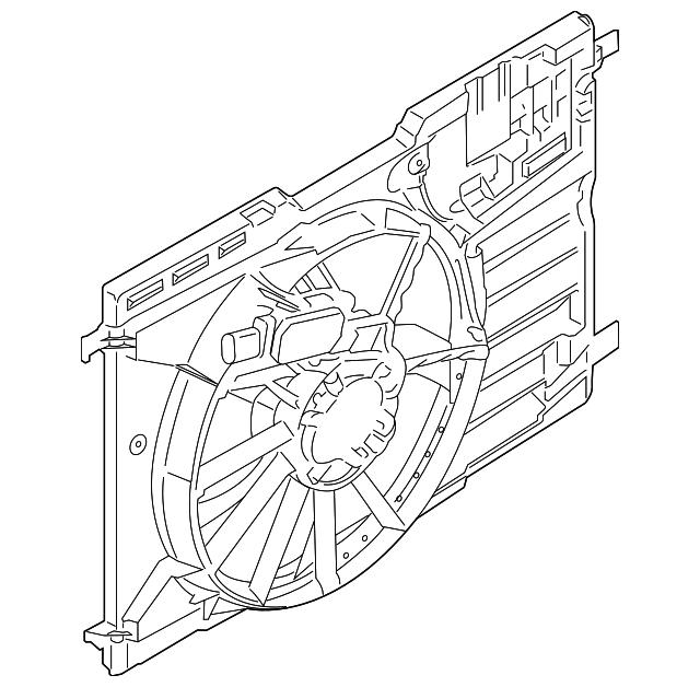 Ford Fan Motor Cv6z 8c607 P