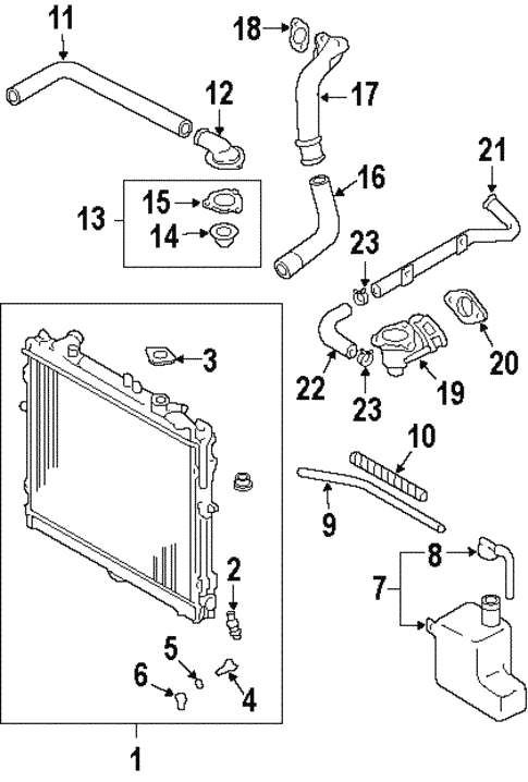 radiator  u0026 components for 1998 kia sportage
