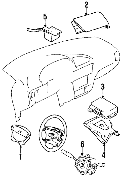 Air Bag Components For 2000 Chevrolet Metro