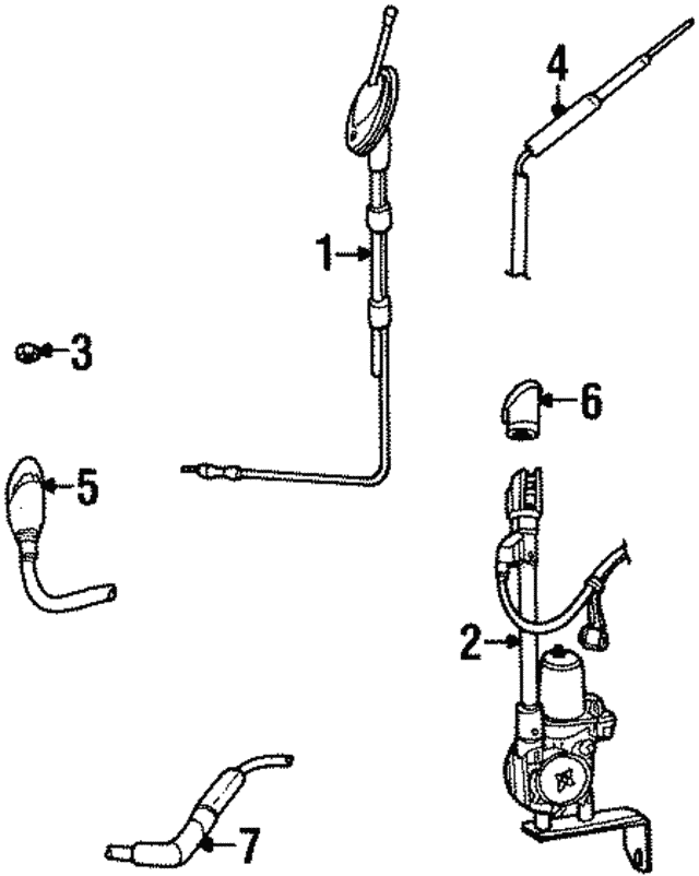 Genuine Ford Antenna Mast H1BZ-18A886-A