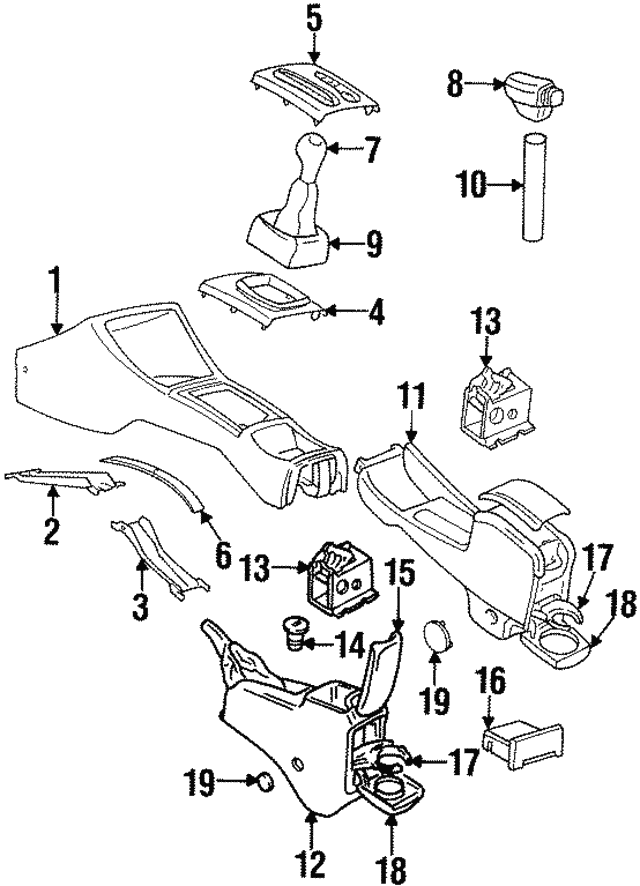 1995 1999 Volkswagen Shift Panel 1h0 863 216 Y01