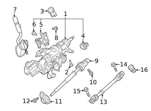 steering column assembly for 2018 ford f-350 super duty #0