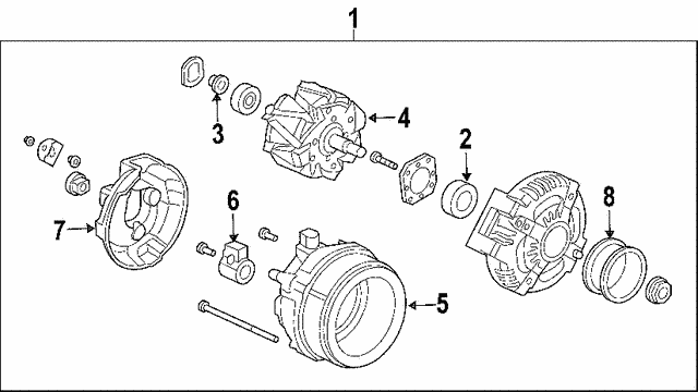 Rotor Assembly - Honda (31101-RDJ-A01)