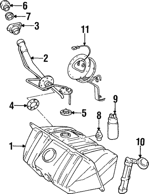 Fuel System Components For 2000 Lexus Sc300