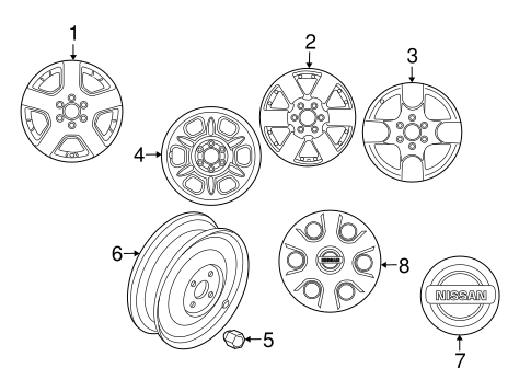 Front Suspension/Wheels for 2014 Nissan Frontier #1