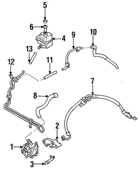 Pump & Hoses for 1997 Mazda Protege #0