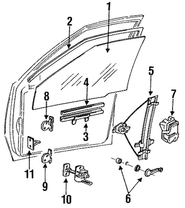 Genuine Hyundai 82402-24000 Window Regulator Assembly