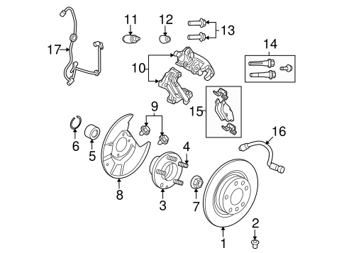 Brake Components for 2006 Lincoln Zephyr | QuickParts