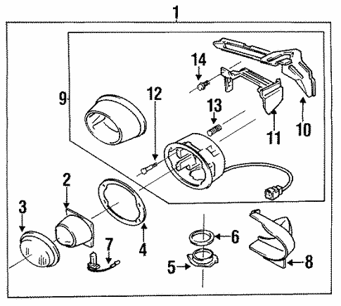 Fog Lamps For 1995 Mazda Rx 7