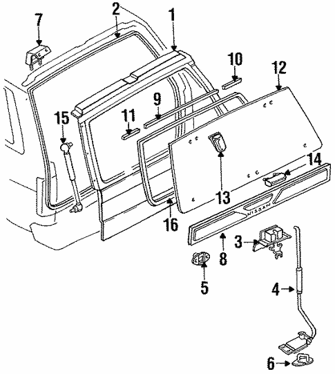 Liftgate For 1995 Nissan Pathfinder
