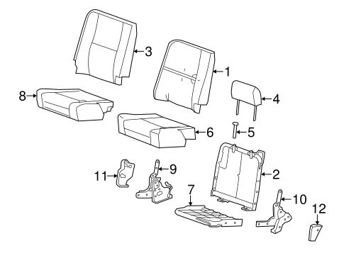 oem 2008 chevrolet silverado 2500 hd rear seat components. Black Bedroom Furniture Sets. Home Design Ideas