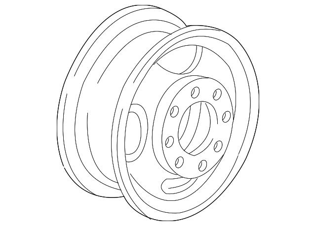 1984 2002 Gm Wheel Steel 9593148