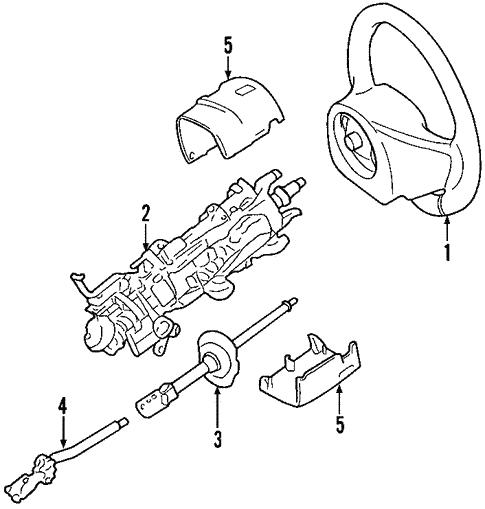 Oem 2008 Ford Crown Victoria Steering Column Parts
