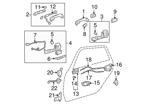 Toyota 69205-AA050-B0 Interior Door Handle