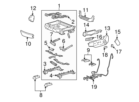 oem 2008 cadillac cts tracks components parts. Black Bedroom Furniture Sets. Home Design Ideas