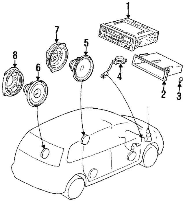 1995 1998 Honda Odyssey 5 Door Tuner Assembly Auto Radio Pioneer