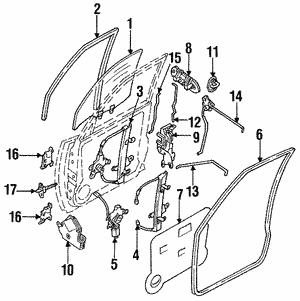 Hinge Assembly - Nissan (80401-70F00)