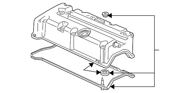 Genuine Honda 12030-R44-A00 Head Cover Gasket Set
