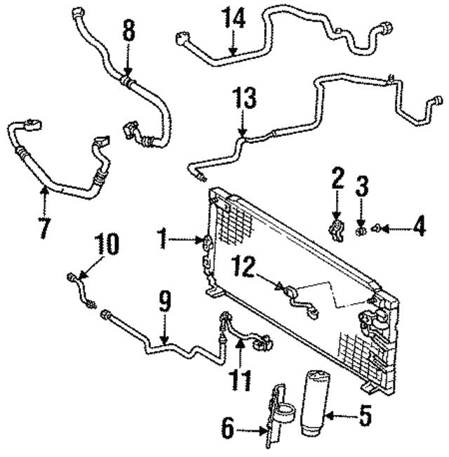 1994 Toyota Tercel Ac Line 88716 16542