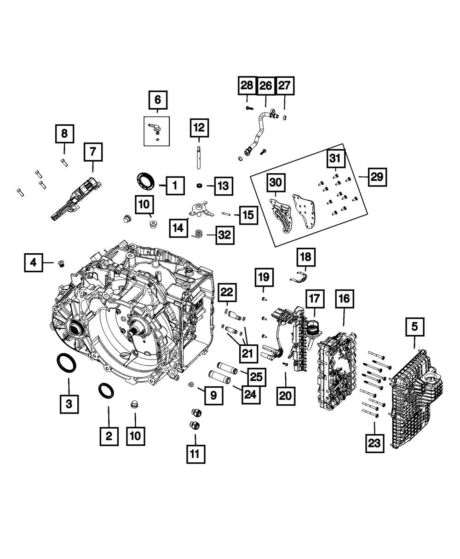 genuine mopar wiring harness retainer 4752926aa