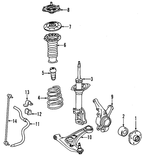 Bmw Front And Part Diagram: Genuine OEM Suspension Components Parts For 2008 Toyota