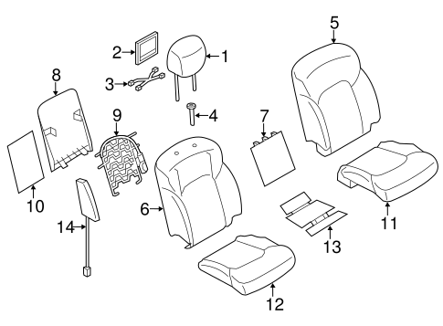 Passenger Seat Components For 2017 Nissan Armada