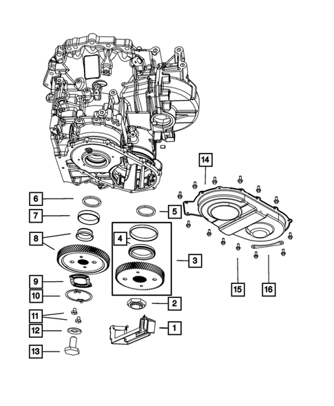 Gear Train for 2013 Chrysler Town & Country #1
