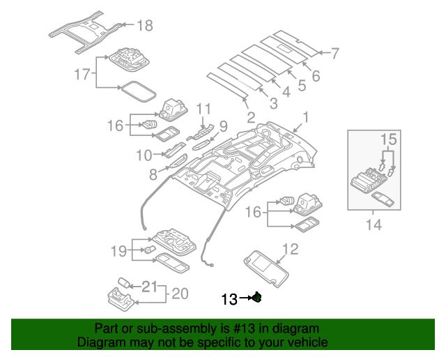 Genuine Hyundai 85210-1E401-OR Sun Visor Assembly Left