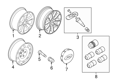 Front Suspension/Wheels for 2013 Ford Edge #4