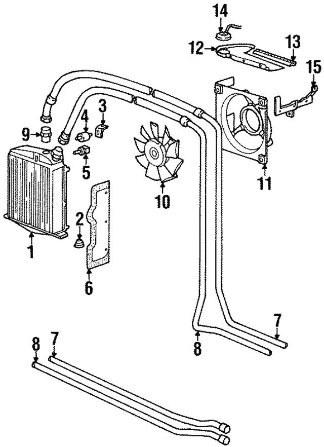 1995 1998 Porsche 911 Oil Cooler Insulator 964 207 413 01