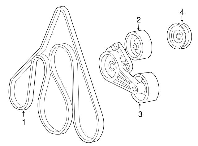 1997 2014 ford tensioner 2l3z 6b209 ca haag ford parts Fusion Belt Tensioner