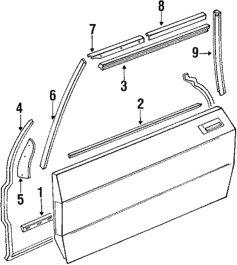 Door & Components for 1988 Mercedes-Benz 560 SL #0
