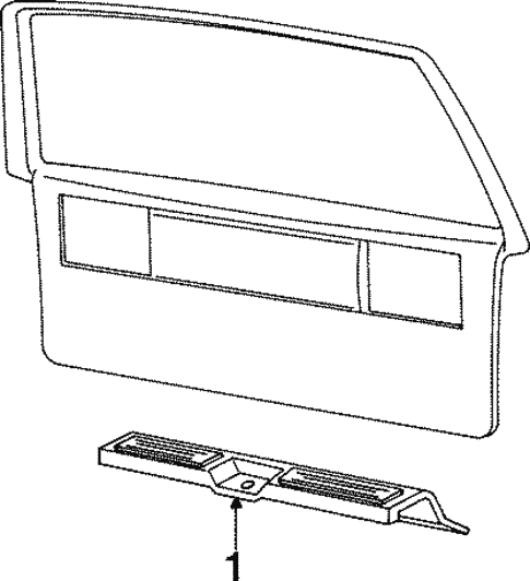 Interior Trim - Rear Body for 1993 Chrysler Town & Country #0