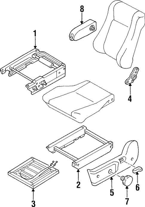 Front Seat Components for 1995 Isuzu Trooper #0