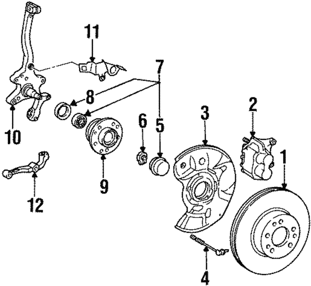 1992 1999 Mercedes Benz Caliper Assembly 000 420 85 83