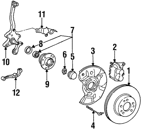 Brake Components for 1998 Mercedes-Benz S 600 #0