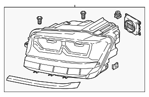 Headlamp Assembly - Volkswagen (3CN-941-035-B)