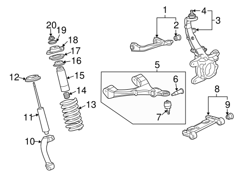 Shocks & Struts for 2004 Oldsmobile Bravada #0
