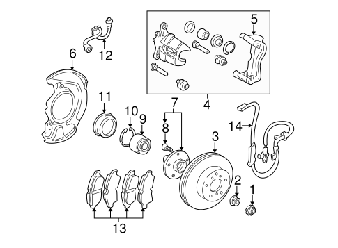 BRAKES/BRAKE COMPONENTS for 2001 Toyota Sienna #2