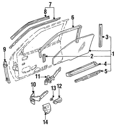 Oem 1995 Buick Regal Glass