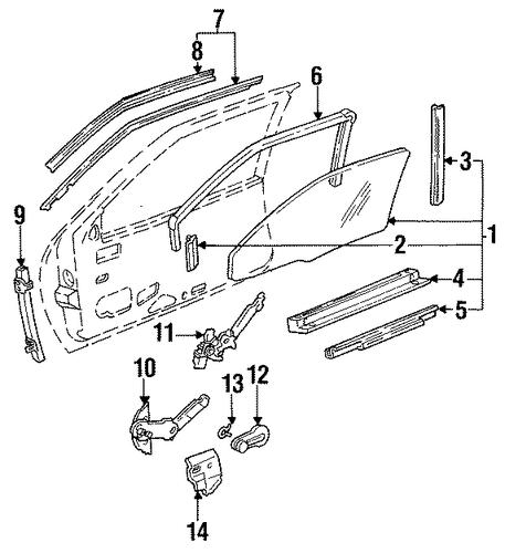 OEM 1988 Buick Regal Front Door Parts