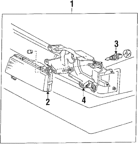 Headlamp Components For 1985 Toyota Camry