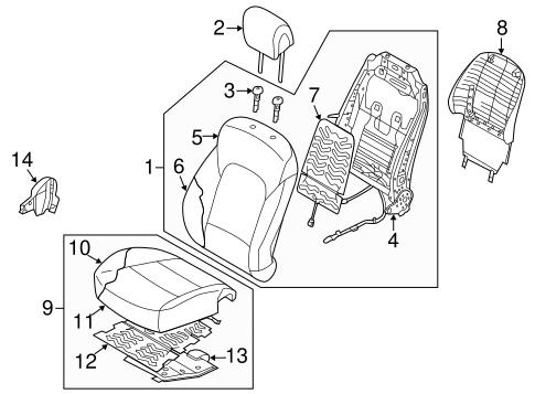 Front Genuine Hyundai 88180-4Z030-VAU Seat Cushion Covering