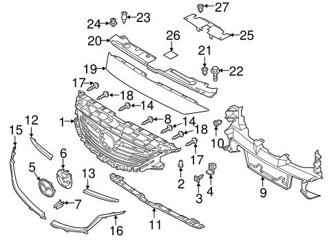 Mazda Upper Bracket Retainer Ghp950355